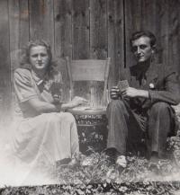 Rodiče -  Tereza a Jenö Gálovi, Fiľakovo, asi 1954