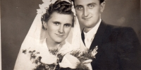 Svatební fotografie rodičů, Fiľakovo 1953