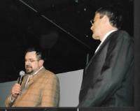 S primátorem Budapešti Gáborem Demszkým na Festivalu Moje město, akci Českého centra v Budapešti, 2009