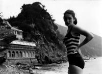 Eva Kosáková, rozená Medková, v Itálii, 1969