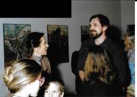 Studijní pobyt v Budapešti - vernisáž výstavy s maďarskou zpěvačkou Zsuzsou Koncz, Budapešť 1988
