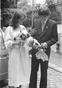 Svatba s Danou Šplíchalovou, Praha 10. července 1980