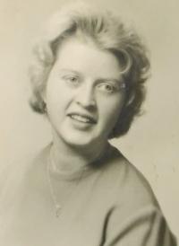 Alena Hudcová v roce 1958