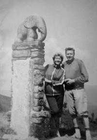 S manželem na Králickém Sněžníku