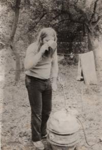 Občerstvení na Akustiádě v lesích u Koryčan, 80. léta 20. stol.