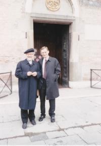 Padova, Josef Dolista s profesorem Skalickým v roce 1996