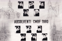 Absolventi CMBF (bohoslovecké fakulty) 1980, Josef Dolista druhá řada, první zleva