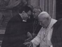 V Římě na sympoziu o Janu Husovi, audience u papeže Jana Pavla II.