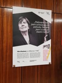 Věra Doušová - plakát k výstavě Příběhy našich sousedů, 2017
