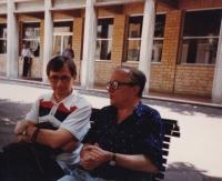 Josef Dolista ve Florencii v roce 1992