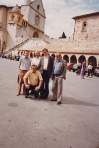 Josef Dolista v Assisi v roce 1992