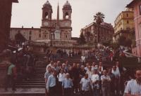 Řím 1992 (Josef Dolista první zleva dole)
