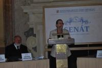 Věra Doušová v Senátu na zahájení krajanského festivalu, 2012