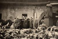 Fotografie z pohřbu Jana Palacha - Karolinum, foto Zdeňka Formánková