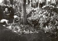 Hrob Jana Palacha na Olšanských hřbitovech.