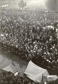 Průvod 20. ledna 1969 na Václavském náměstí