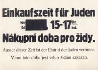 Omezení nákupní doby pro židovské obyvatelstvo