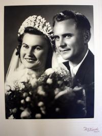 svatební fotografie - 1950
