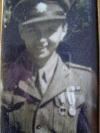 Josef Burger v roce 1945