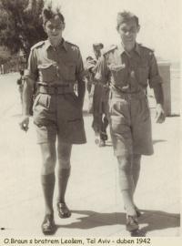 Otakar Braun s bratrem Leošem v Tel Avivu