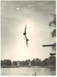 Skok, koupaliště na Úhlavě, 60. léta