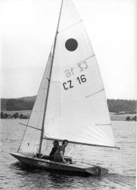 Jachting klub - kosatkář František Wiendl, Hnačov, 1979