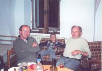 František Wiendl se synovcem a vnukem Tomášem, 2005