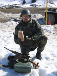 Jan Vevera během vojenského výcviku