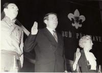 Při zahajovací schůzi organizace Junáka v roce 1968