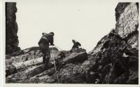 Výcvik slaňování - 70. léta