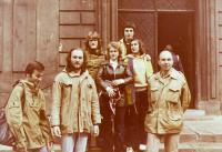 Skauti ze SRN - Heino Seeger s přáteli (Ladislav Fiala vlevo, Miroslav Kopt úplně vpravo) - přelom 70. a 80. let