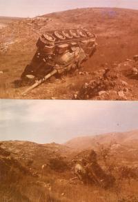 Jomkipurská válka - syrský tank, 1973