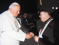 Josef Špak u papeže Jana Pavla II.