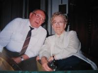 Josef Špak s manželkou v roce 2005