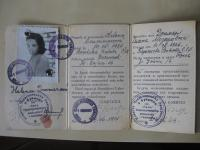 Legitimace vystavená v červnu 1945