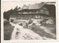 Dagmar with sister and mother in Tatry mountains (1936-37)