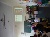 Prezentace pamětníkova příběhu žáky z projektu Příběhy našich sousedů