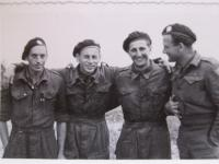 Richard Roubicek, husband Eva, duribng the war in England, second of left