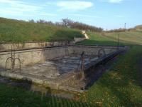 Terezínský bazén budovaný studenty roudnického gymnásia