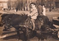 Vojen Syrovátka na poníkovi, rok 1945