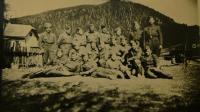 Lubochňa 1945 - část praporu - V.K. stojí vpravo