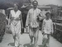 S rodiči, Opatija, 1931