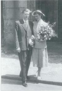 Svatební fotografie 1955