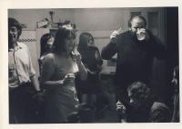 Dana Němcová a A. Stankovič v Ječné, cca 1975
