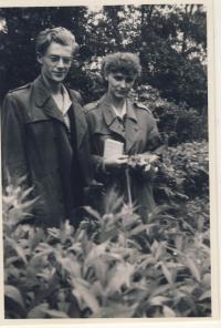 After wedding 1955