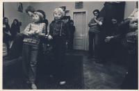 Během přednášky v Ječné, 70. léta