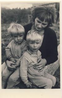 With children, cca 1964