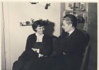 S manželem cca 1957