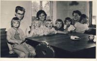 With family and Mrs. Hejdanek, cca 1963