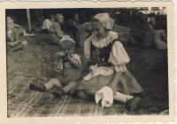 Dana Němcová in national costume 1945